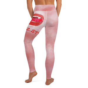 Thirsty Vampire Lips Yoga Leggings With Pocket
