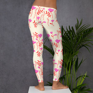 yoga pants with flowers