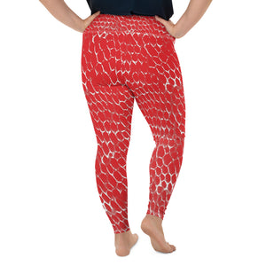 Dead Sea Dragon Skin Yoga Leggings With Pocket Plus Size