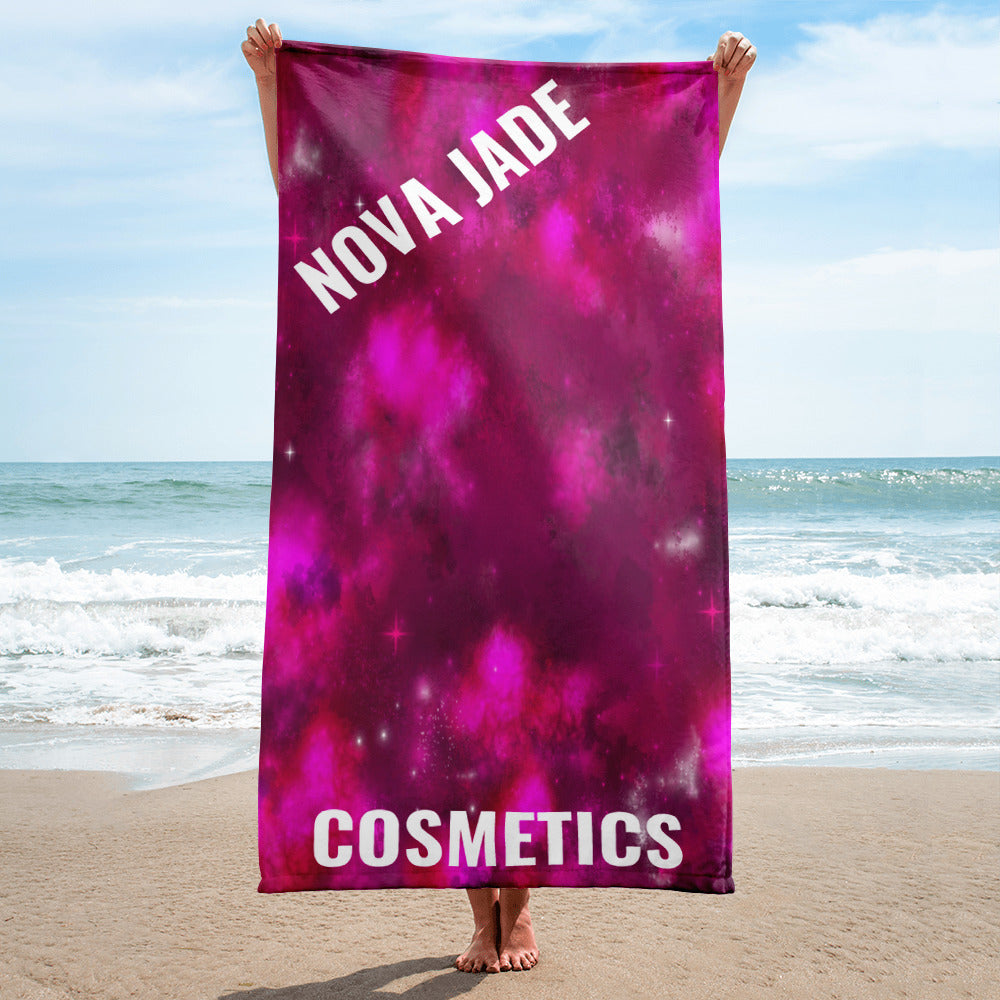 Cosmic Print Beach Towel