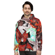 Dog-Fu Service Dog Lovers and Martial Artist Painting Unisex Hoodie
