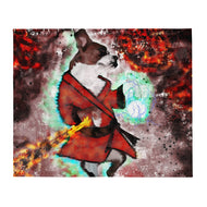 Dog-Fu Service Dog Lovers and Martial Artist Painting Throw Blanket