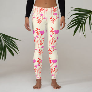 womens floral leggings