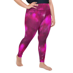 Cosmic Yoga Leggings With Pocket Plus Size Leggings