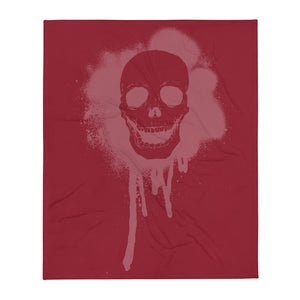 Red Skull Throw Blanket