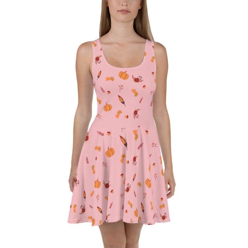 NEW! Nova Jade Fall Print Skater Dress For Women
