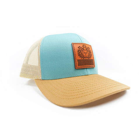 Trucker Hat - Blue/Gold