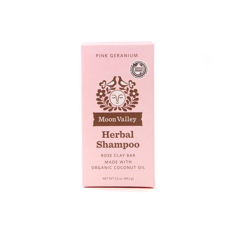 Herbal Shampoo Bar - Pink Geranium - Front