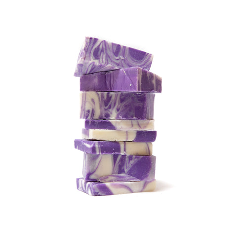Bulk Lavender Swirl Herbal Soap
