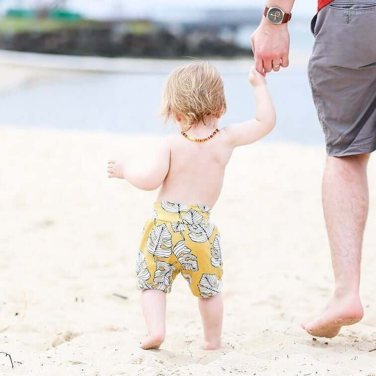 Mustard leaves baby and toddler bubble shorts