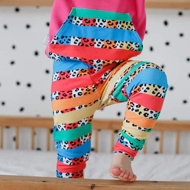 rainbow print leggings by lottie & lysh