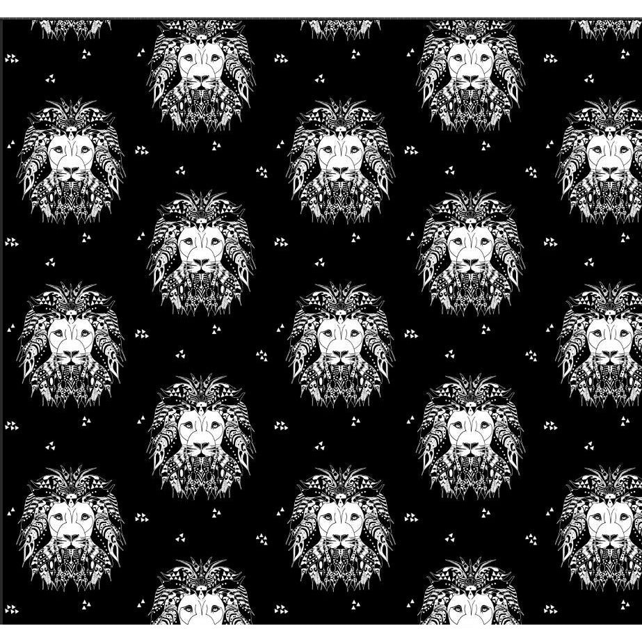 lion noir jersey fabric designed by lottie & lysh