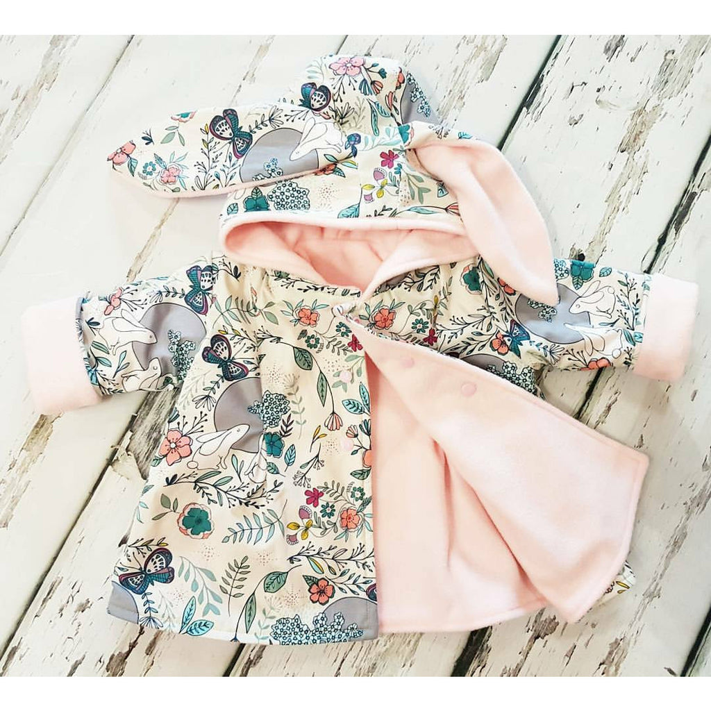 Spring scents baby and toddler girls bunny jacket with ears by Lottie & Lysh