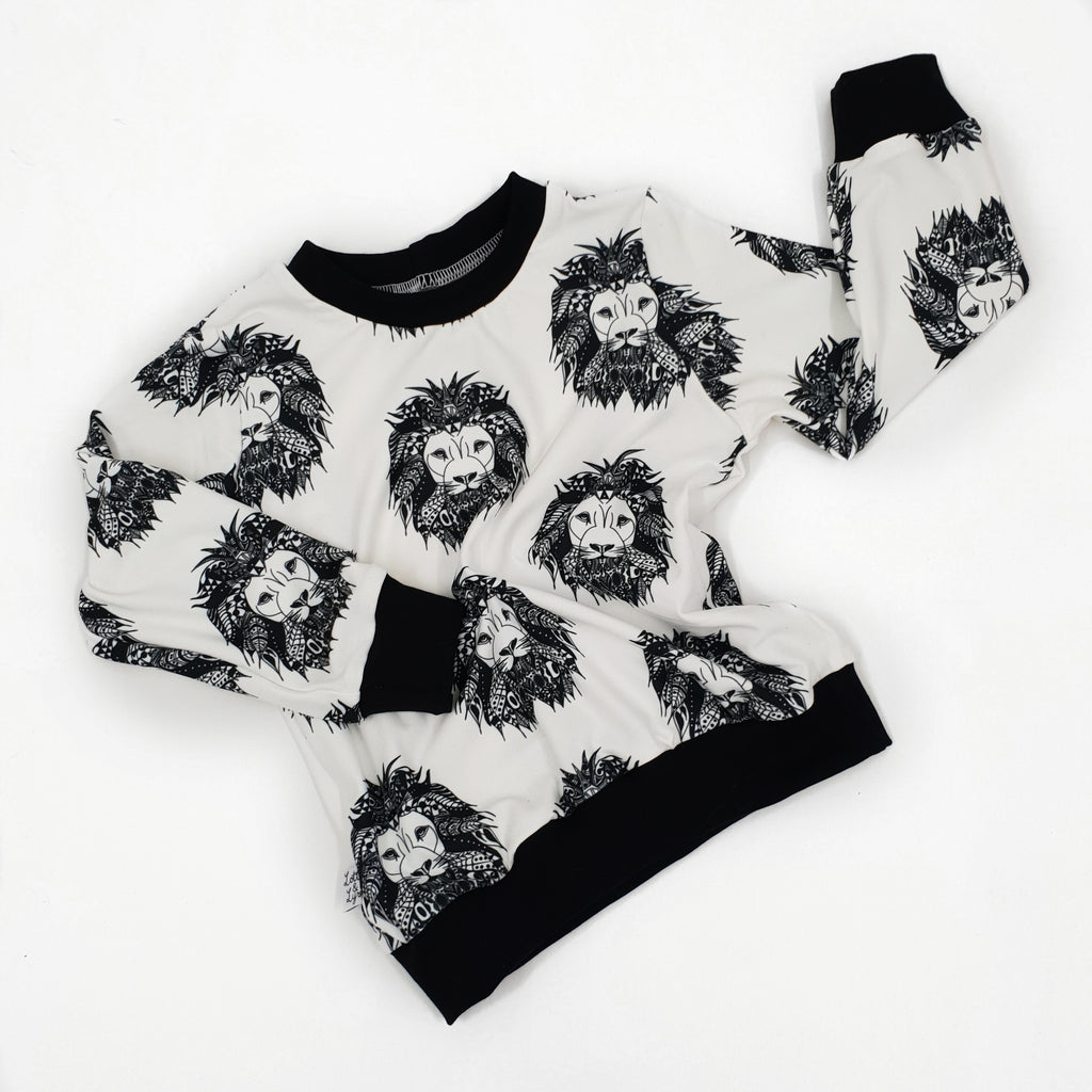 Aztec lion long sleeve top by Lottie and lysh