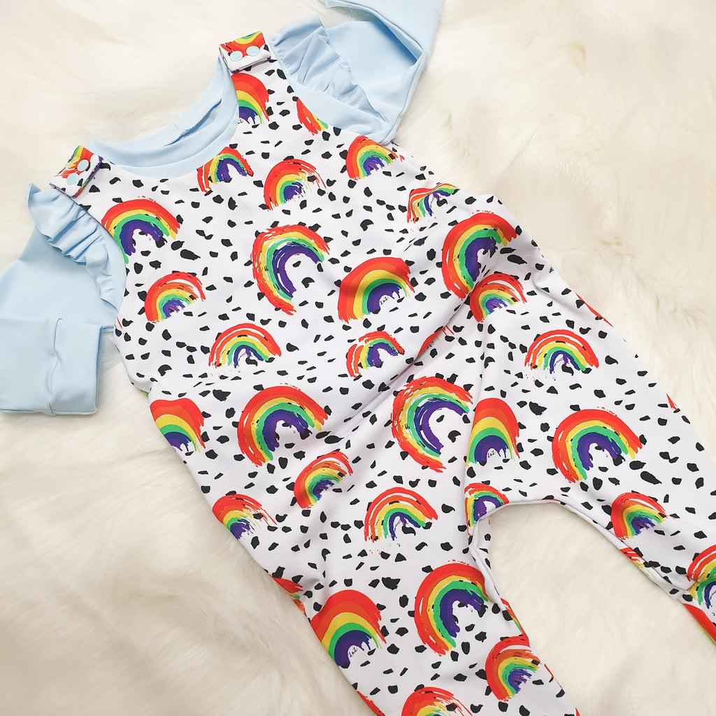 Rainbow print kids clothing