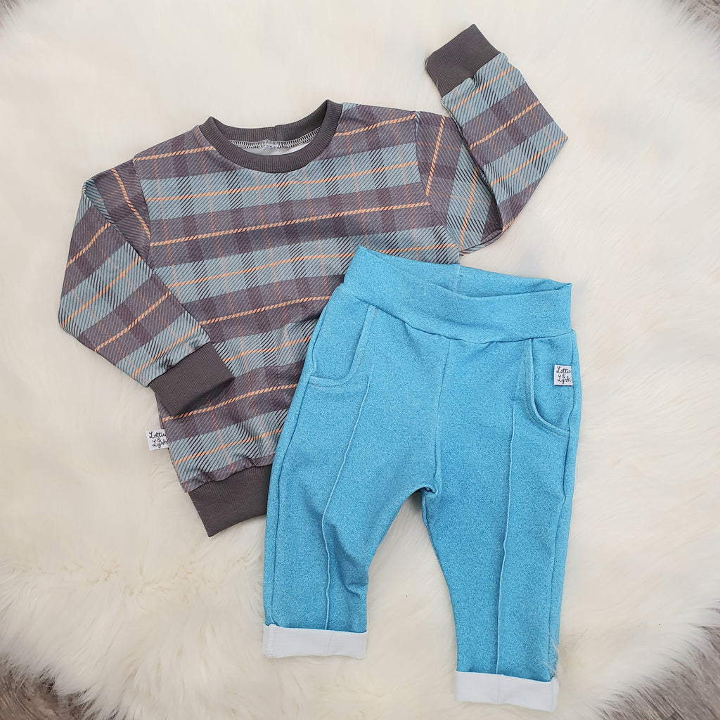 Tartan toddler and baby top by Lottie & Lysh
