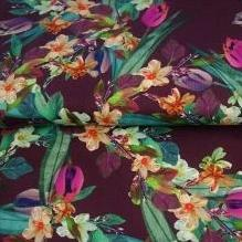 tulips floral printed fabric for baby clothing by lottie and lysh