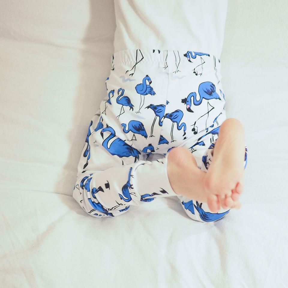 Blue flamingo leggings by lottie & lysh