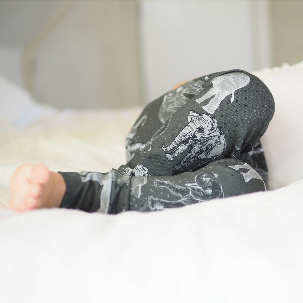 Elephant organic baby leggings