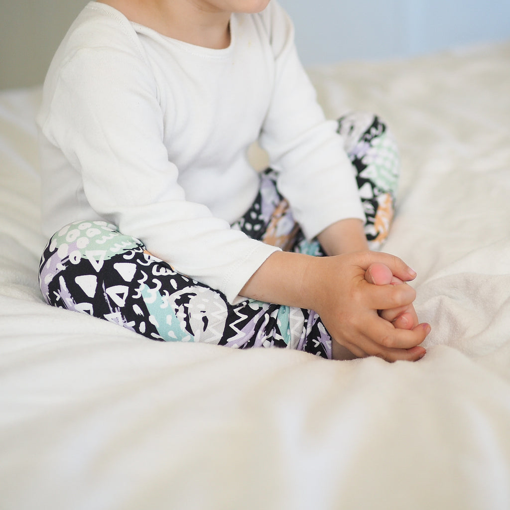 Dash art organic baby leggings