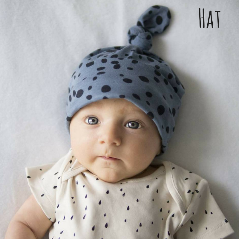 knotted baby hat