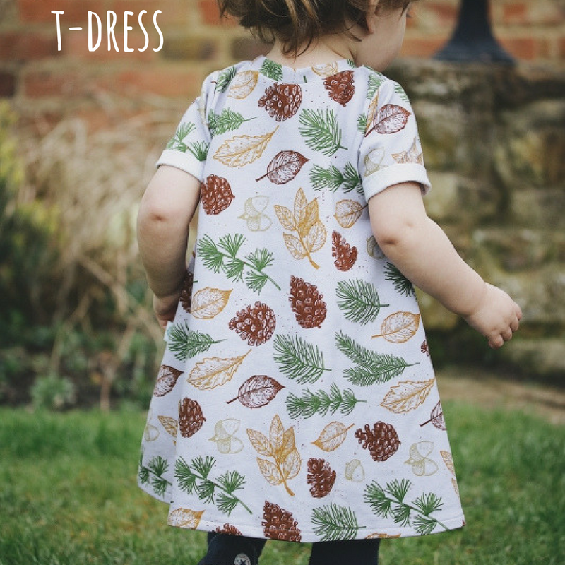 design your own childrens clothing with lottie and lysh. Short sleeve t-shirt dress.