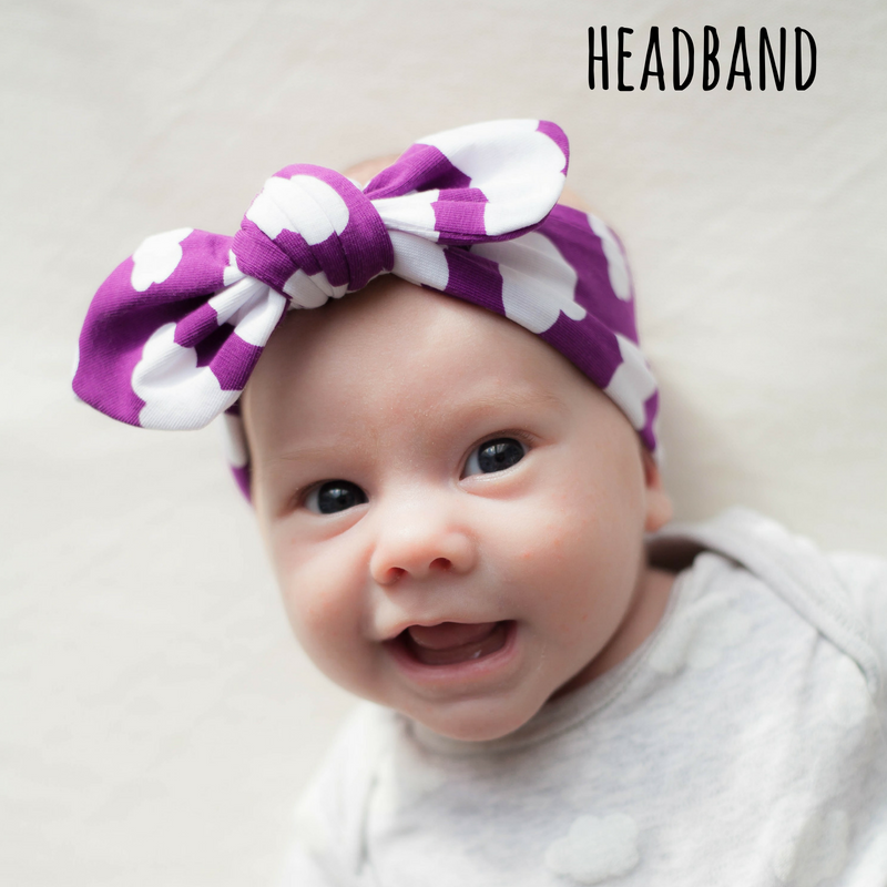 knotted baby headband by lottie & lysh