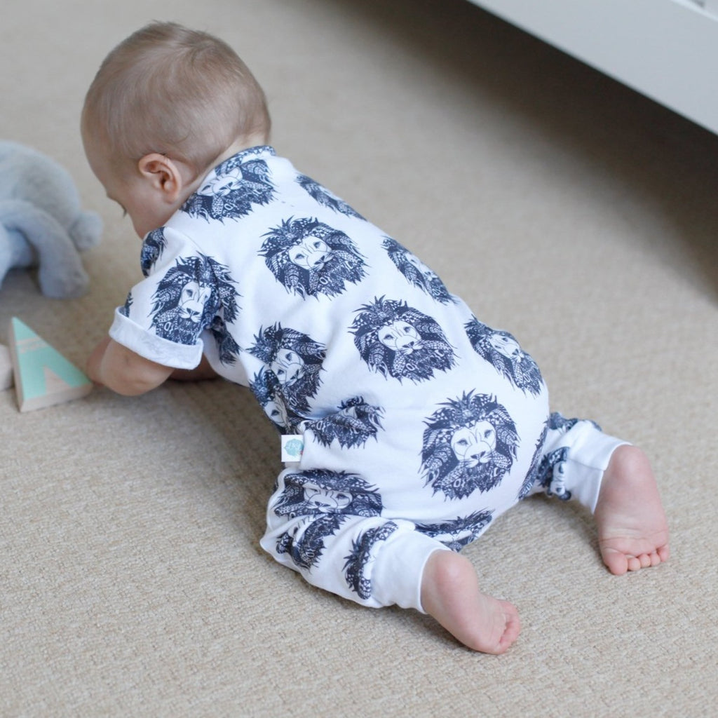 monochrome baby clothing handmade in the uk