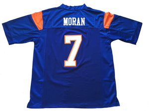 Blue Alex Moran 7 Blue Mountain State FOOTBALL THROWBACK MOVIE JERSEY