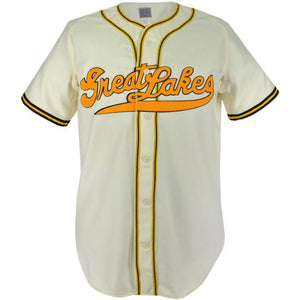 Great Lakes Naval Station 1943 Home RETRO BASEBALL THROWBACK JERSEY