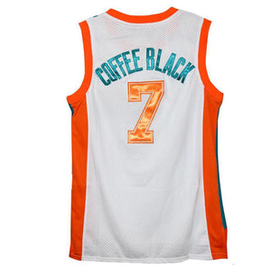 "WHITE ""COFFEE BLACK"" #7 FLINT TROPICS BASKETBALL THROWBACK MOVIE JERSEY"