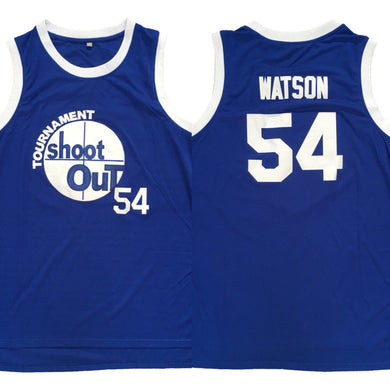 BLUE SHOOTOUT #54 WATSON BASKETBALL THROWBACK MOVIE JERSEY