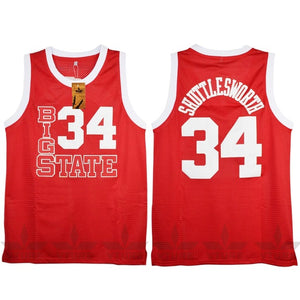 RED BIG STATE #34 SHUTTLESWORTH BASKETBALL THROWBACK MOVIE JERSEY