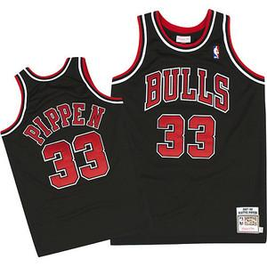 "BLACK CHICAGO ""PIPPEN"" #33 BASKETBALL THROWBACK JERSEY - ThrowbackJerseys.com"
