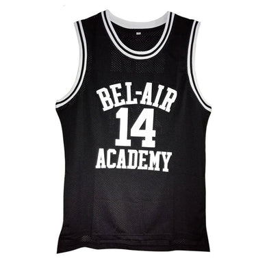 BLACK FRESH PRINCE OF BEL-AIR JERSEY WILL SMITH #14 BASKETBALL THROWBACK JERSEY - ThrowbackJerseys.com