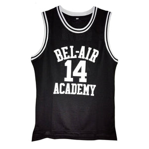 BLACK FRESH PRINCE OF BEL-AIR JERSEY WILL SMITH #14 BASKETBALL THROWBACK JERSEY