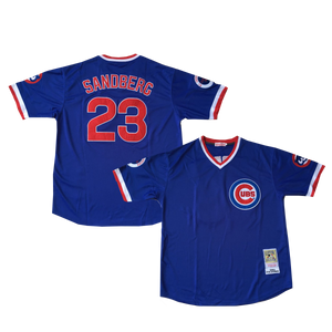 "BLUE CHICAGO ""SANDBERG"" #23 BASEBALL THROWBACK JERSEY - ThrowbackJerseys.com"