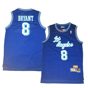 "BLUE LOS ANGELES ""BRYANT"" #8 BASKETBALL THROWBACK JERSEY - ThrowbackJerseys.com"