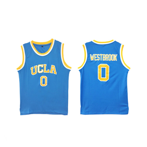"BLUE UCLA ""WESTBROOK"" #0 COLLEGE BASKETBALL THROWBACK JERSEY - ThrowbackJerseys.com"