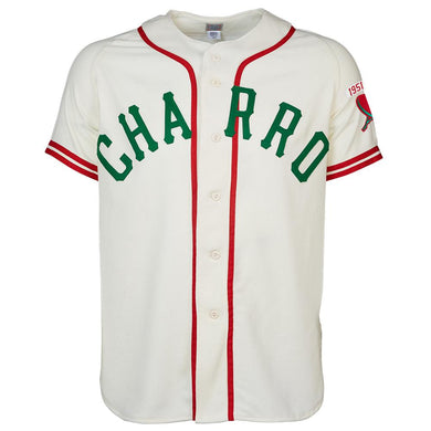 Brownsville Charros 1951 Home Jersey RETRO BASEBALL THROWBACK JERSEY