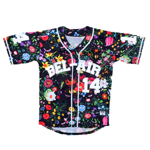 FLORAL BLACK FRESH PRINCE OF BEL-AIR WILL SMITH #14 BASEBALL THROWBACK JERSEY