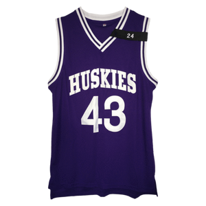 PURPLE HUSKIES #43 TYLER BASKETBALL THROWBACK MOVIE JERSEY