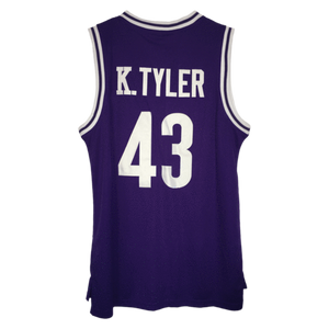 PURPLE HUSKIES #43 TYLER BASKETBALL THROWBACK MOVIE JERSEY - ThrowbackJerseys.com