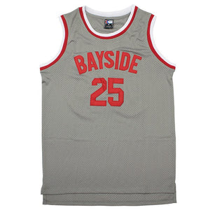 GREY BAYSIDE # 25 MORRIS BASKETBALL THROWBACK MOVIE JERSEY