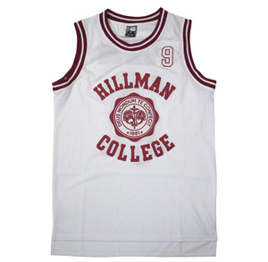WHITE HILLMAN COLLEGE #9 WAYNE BASKETBALL THROWBACK MOVIE JERSEY - ThrowbackJerseys.com