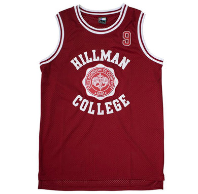 MAROON HILLMAN COLLEGE #9 WAYNE BASKETBALL THROWBACK MOVIE JERSEY