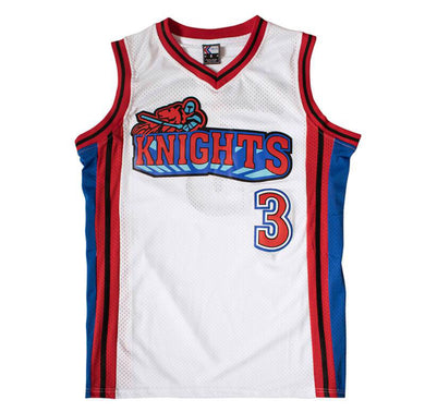 WHITE CAMBRIDGE #3 KNIGHTS BASKETBALL THROWBACK MOVIE JERSEY - ThrowbackJerseys.com