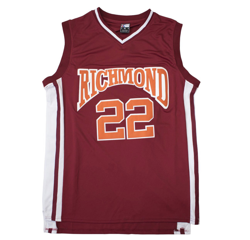 MAROON RICHMOND #22 CRUZ BASKETBALL THROWBACK MOVIE JERSEY - ThrowbackJerseys.com