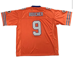 ORANGE BOUCHER #9 LOUISIANNA FOOTBALL THROWBACK MOVIE JERSEY - ThrowbackJerseys.com