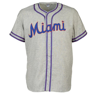 Miami Sun Sox 1949 Road RETRO BASEBALL THROWBACK JERSEY
